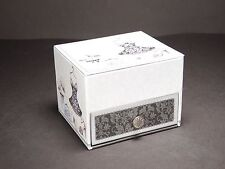 French Style Small Jewellery Box With Ring Rolls Grey Xmas Gift