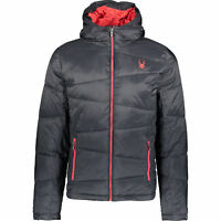 SPYDER Men's Dolomite Down Padded Therma Jacket, Dark Navy & Red, sizes M L