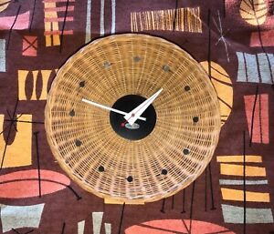 George Nelson Basket Clock original vintage Howard Miller MCM Mid Century Modern