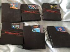 Nice Lot of 6 Nintendo NES Games Skate Or Die-1942-Commando-Wrestle Mania Hockey