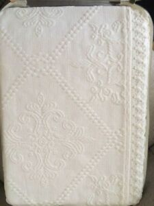Beautiful New Matelasse white coverlet
