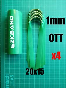 GZK GREEN OTT Slingshot/Catapult 1mm Hunting Bands x4 With Super Fiber Pouches