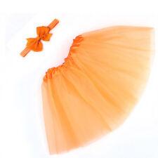 New Toddler Newborn Baby Girl Tutu Skirt Bow Headband Photo Prop Costume Outfit