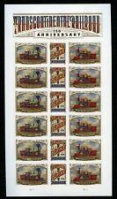 US Scott 5380a Trans Continental Railroad Sheet of 12 Mint NH