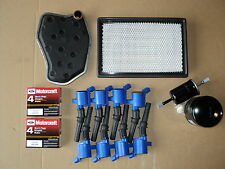 COMPLETE TUNE UP KIT 8+COILS DG508 BLUE 8-PLUGS SP493-OIL-AIR-GAS TRANS NEW