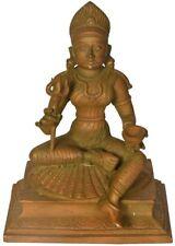 "JAI KALI Mama Hold Trident Mother God Statue 6.4"" Vintage Bronze Figure Art 2 KG"