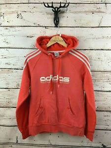 ADIDAS Womens Hoodie Jumper 16 Pink Cotton Polyester