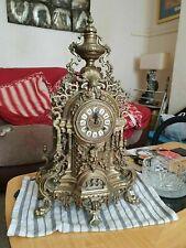ANTIQUE FRENCH HERMLE IMPERIAL GILT BRONZE ORMOLU RARE BOULLE BOUDOIR CLOCK