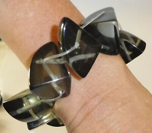 Sobral Anticonfromista Delirum Clear Gray Statement Bracelet Brazil Import