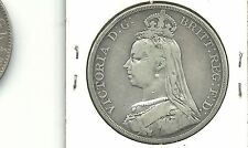 Great britain Uk 1889  1 one crown silver coin