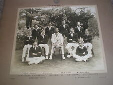 Very large mounted old photograph Meadhurst School Uppingham Cricket team 1937