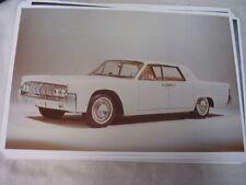 1964 LINCOLN CONTINENTAL SEDAN  COLOR  11 X 17  PHOTO PICTURE