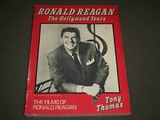 1980 RONALD REAGAN THE HOLLYWOOD YEARS SOFTCOVER BOOK - TONY THOMAS- O 8650