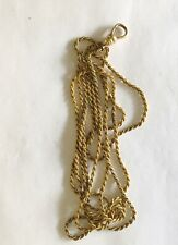 """Antique Victorian Gold Filled Rope Watch Chain. 36"""""""