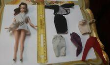 "New ListingVintage Mini Clone Barbie 7.5"" British Hong Kong Lilli Bild Doll W Clothes Lot"