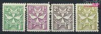 Malta P28A x-P34A x (kompl.Ausg.) (4 Werte) Linienzähnung postfrisch  (9213257
