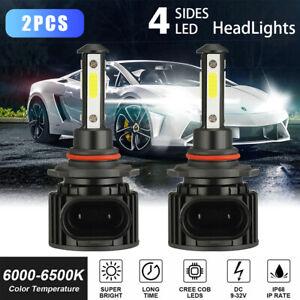 4-Side CREE LED Headlight Kit 9005 HB3 2000W 300000LM 6500K High Beam White Bulb