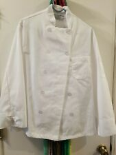 Kitchen Basix White Chef Coat Jacket Work Cook Uniform Long Sleeve 38 Small New