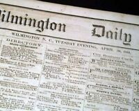 Rare CONFEDERATE Fort Sumter Civil War STARTS 1861 Wilmington NC Old Newspaper