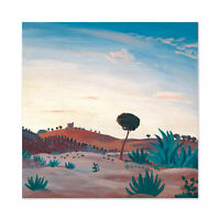 James D Innes Spanish Landscape Cropped Large Wall Art Print Square 24X24 In