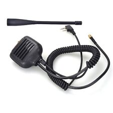 Ham Shoulder Speaker Mic with antenna for Walkie Talkie KENWOOD WOUXUN BAOFENG