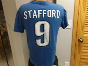 NIKE DETROIT LIONS MATTHEW STAFFORD JERSEY T-SHIRT MEDIUM GEORGIA BULLDOGS