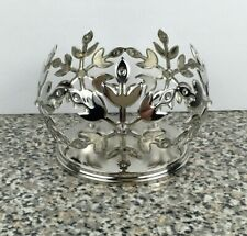Bath And Body Works Metal 4oz Jar Candle Holder Sleeve Snowflake Gems