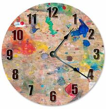 "SPLATTER PAINTING CLOCK - Large 10.5"" Wall Clock - 2279"