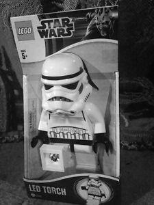 Lego Star Wars Storm Trooper  LED Torch Light Flashlight Children NIB