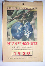 Alter Kalender Pflanzenschutz im Wechsel der Jahreszeiten 1950 Garten Gärtner