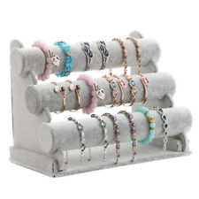 Triple Bracelet Holder Jewelry Display Stand Watch Bangle Bar Necklace Stor R3G1