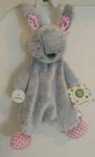 Little Me Snuggle Blanket Rabbit 2018  Gray Pink With Stars Rattles New Lovey