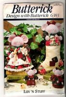 Butterick Sewing Patterns 6383 Luv 'N Stuff Merry Mice Stocking Ornaments