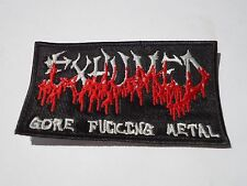EXHUMED LOGO GORE DEATH METAL EMBROIDERED PATCH