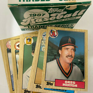 1987 TOPPS TRADED #1-132T BASEBALL CARDS YOU PICK COMPLETE YOUR SET SINGLES
