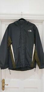 North Face Mens Lightweight Hooded Jacket Navy Khaki Size M
