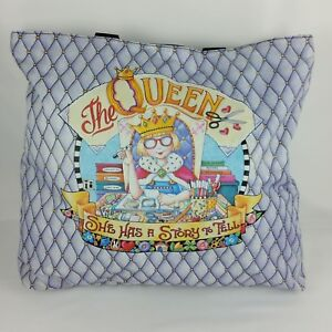 Mary Engelbreit The Queen She Has a Story to Tell Tote Bag Purse Purple