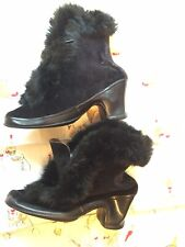 Vintage 1940s Goodrich Boot Over Shoe Made in Usa Rabbit Fur Rubber base size 7
