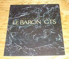 Original 1987 Chrysler LeBaron GTS Deluxe Sales Brochure 87