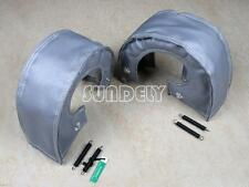 T4 Gray Twin Turbo Charger Turbocharger Blanket Heat Shield Cover GT47 GT55