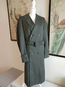 Vintage Military Trench Coat Jacket Removeable Liner Army US Men 36xl Green