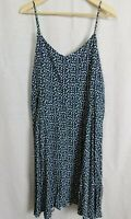 NWT Gap Women's Floral Navy Blue Cami Dress Smocked Back MSRP$50 2XL New