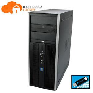 HP Compaq 8000 Elite Tower Core 2 Duo E8400 @3.0GHz 8GB RAM 2TB SATA Win 10