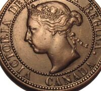 Old Canadian Coins 1893 Large Cent Canada Highgrade Beauty