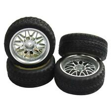 4pcs 12mm Hub Wheel Rims & Rubber Tires for RC 1/10 on-road Touring Racing Car A