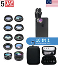 New 10 in 1 Optical Phone Camera Lens Kit for Cell Phone iPhone Android Samsung