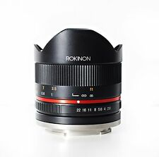 ROKINON 8mm F2.8 UMC Fisheye II (black) Lens for Canon M Mirrorless Cameras
