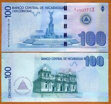 Nicaragua, 100 cordobas, 2007 (2012) P-NEW, UNC > Commemorative