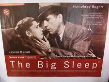 The Big Sleep 1946 / 1995 British Quad  Movie Poster Humphrey Bogart