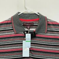 Tommy Bahama Golf Men's Polo Multicolor Striped Large NWT